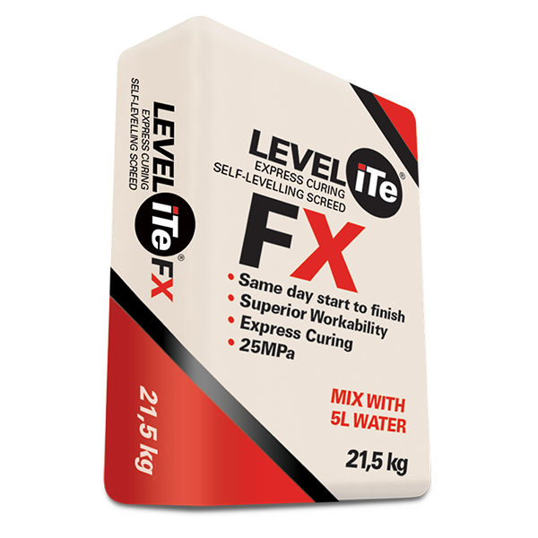 LEVELiTe FX - Rapid Set self-levelling floor screed compound, 21.5kg bag