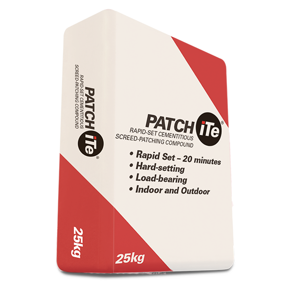PATCHiTe – Rapid set cementitious screed patching compound, 25kg bag