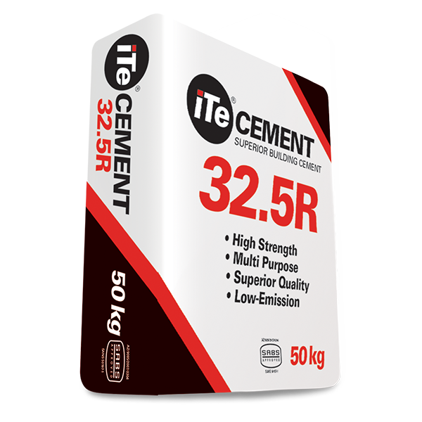 iTe CEMENT 32.5R - Versatile all purpose cement with superior workability, 50kg bag