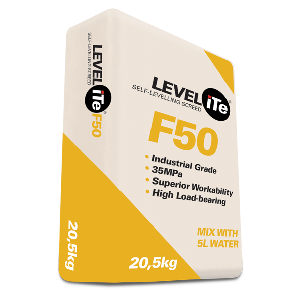 LEVELiTe F50 – free flowing self-levelling screed compound, 20.5kg bag