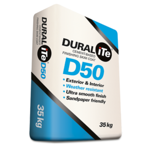 DURALiTE D50 - Cement Based Finishing Skim Coat, 35kg bag
