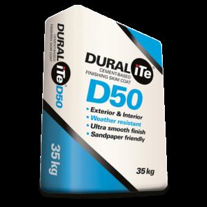 DURALiTE D50 - Cement Based Finishing Skim Coat, 35kg bag